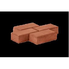 Серая тротуарная плитка, брусчатка «кирпичик» 100х200х60 мм