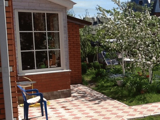 тротуарная плитка на даче